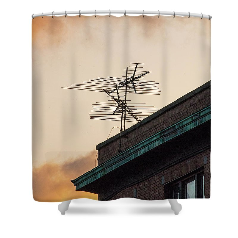 Tv Shower Curtain featuring the photograph Lost Signal by Ira Marcus