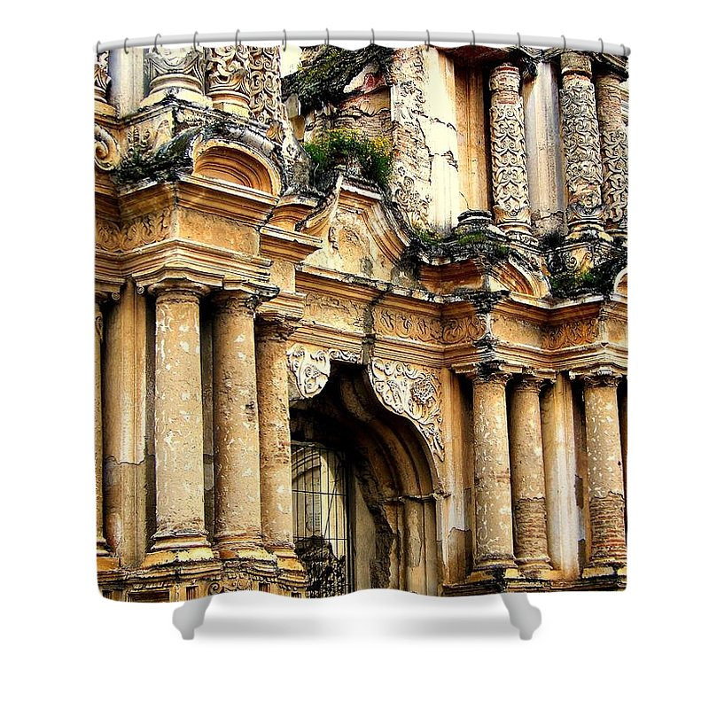 Architecture Shower Curtain featuring the photograph Lost Treasures by Karen Wiles