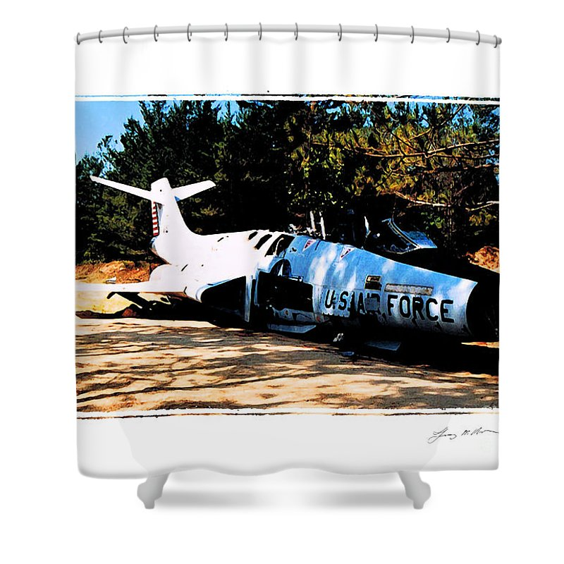 F-101 Shower Curtain featuring the digital art Lost Voodoo Magic by Tommy Anderson