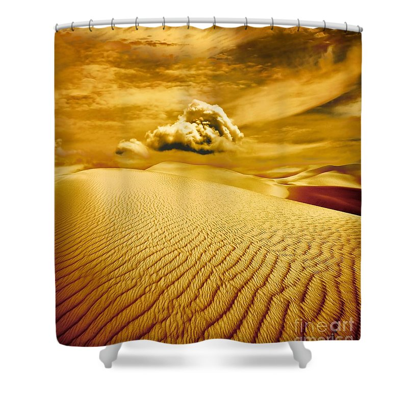 Desert Shower Curtain featuring the photograph Lost Worlds by Jacky Gerritsen