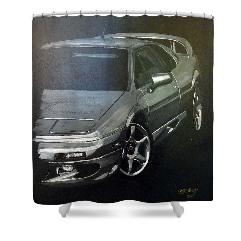 Lotus Esprit Shower Curtain featuring the painting Lotus Esprit by Richard Le Page