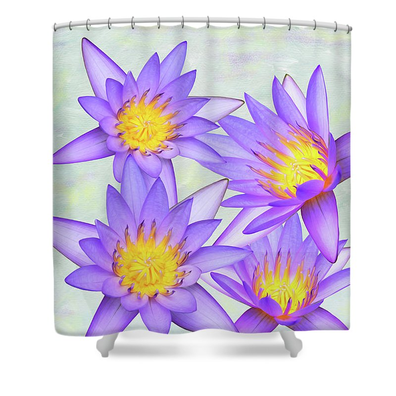 Lotus Loveliness Shower Curtain For Sale By Laura D Young