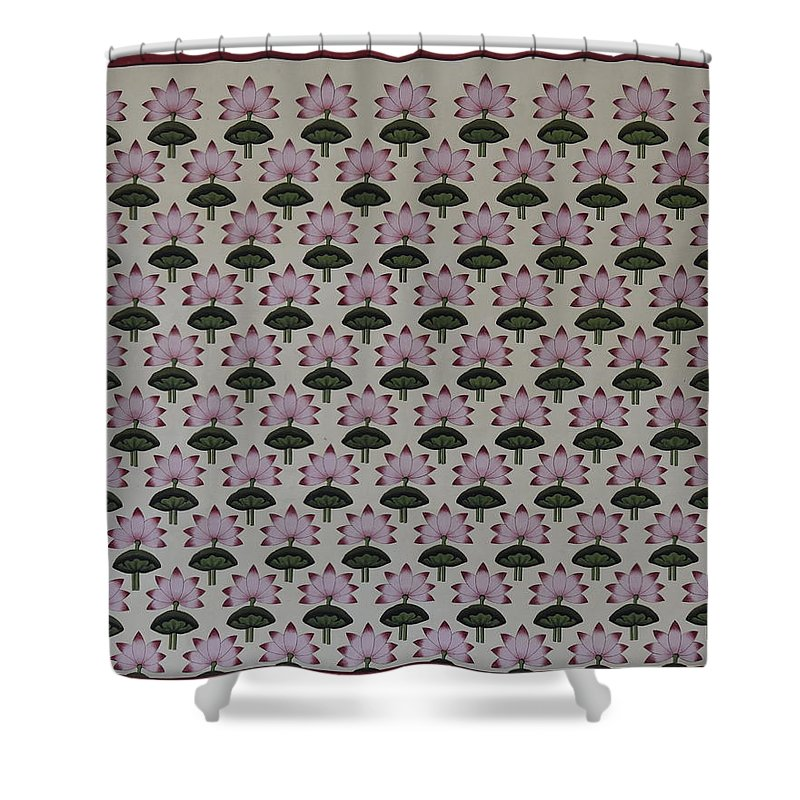 Lotus Shower Curtain For Sale By Pichwai Pichvai Pichhavai Pitchwai
