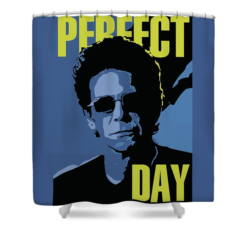 Lou Reed Shower Curtain featuring the digital art Lou Reed by Greatom London