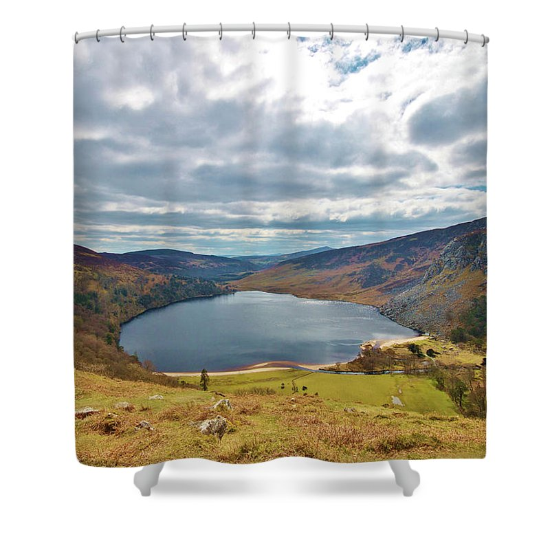 Lough Tay Shower Curtain featuring the photograph Lough Tay by Marisa Geraghty Photography