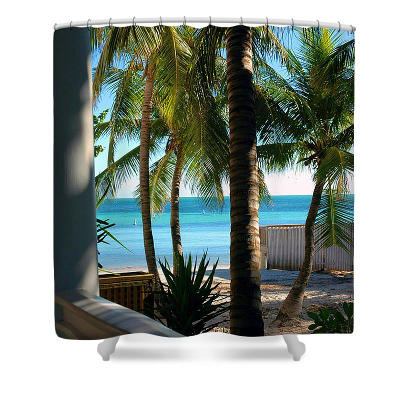 Photos Of Key West Shower Curtain featuring the photograph Louie's Backyard by Susanne Van Hulst