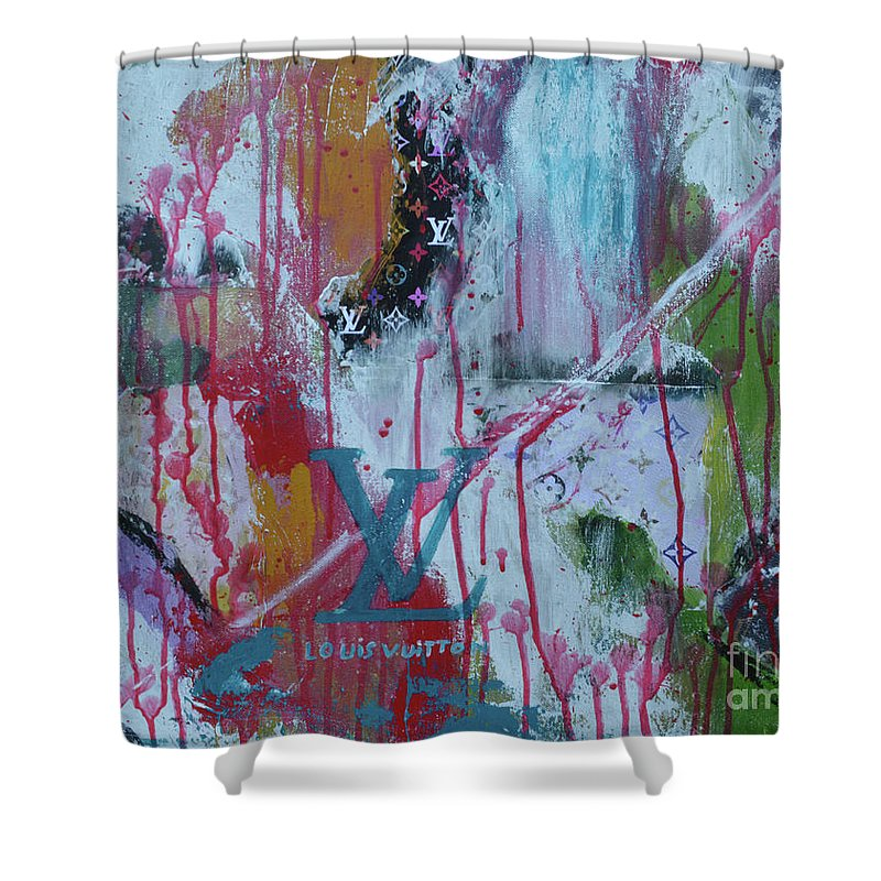 1fb8e7c25 Louis Vuitton Shower Curtain featuring the mixed media Louis Vuitton  Abstract by To-Tam Gerwe