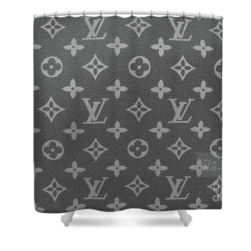 Louis Vuitton Black And White Monogram Shower Curtain For Sale By To Tam Gerwe