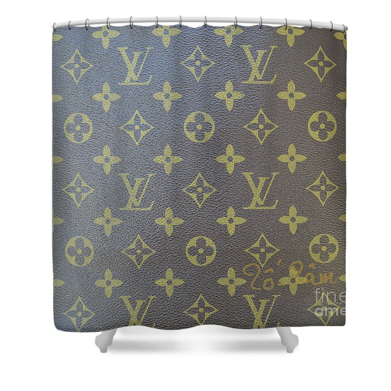 Louis Vuitton Shower Curtain Featuring The Photograph Brown Gold Monogram By To Tam