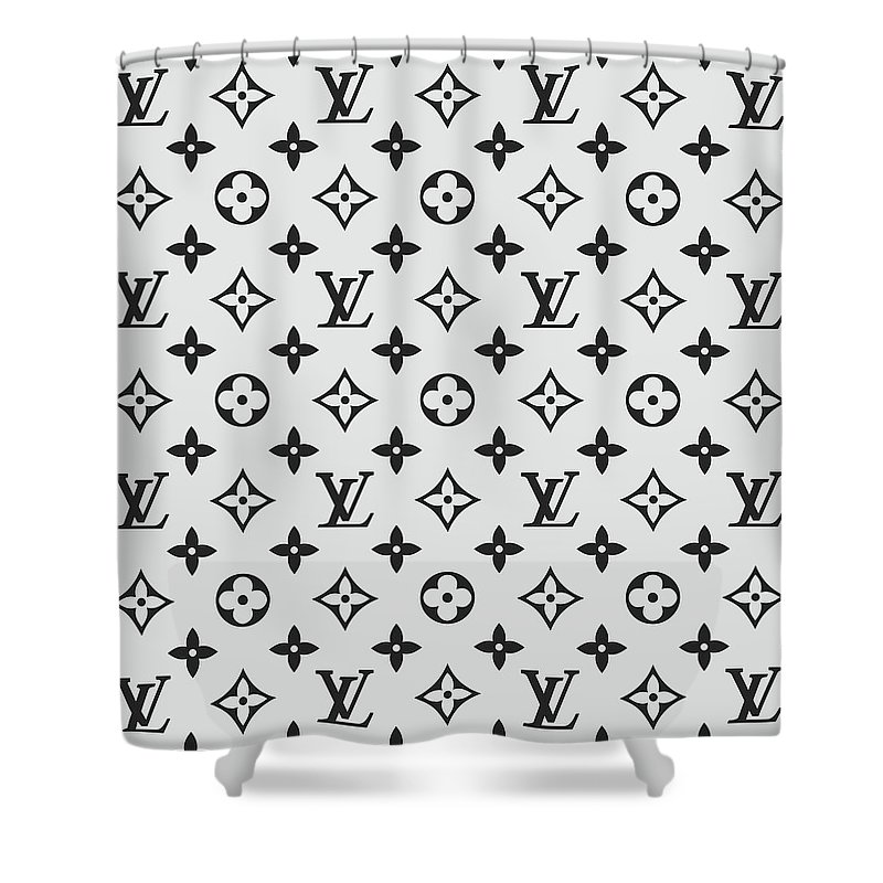 5f4126186b6 Louis Vuitton Pattern Lv 07 Grey Shower Curtain
