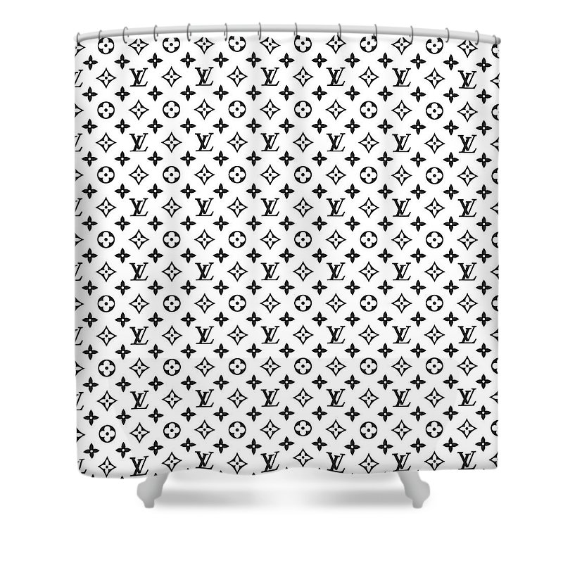 Louis Vuitton Shower Curtain Featuring The Digital Art Pattern