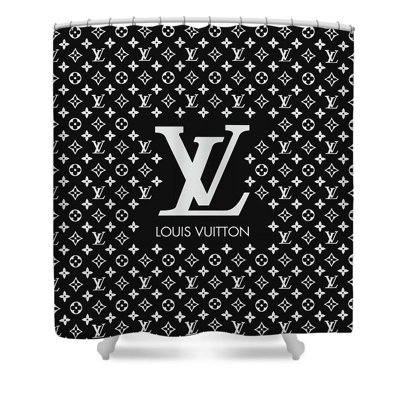 Louis Vuitton Shower Curtain featuring the digital art Louis Vuitton Pattern - Lv Pattern 11 - Fashion And Lifestyle by TUSCAN Afternoon