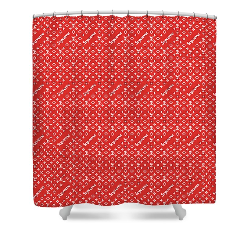 Louis Vuitton Shower Curtain Featuring The Painting Supreme Red By Vadim Pavlov