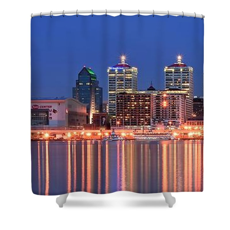 Louisville Shower Curtain featuring the photograph Louisville Panoramic At Blue Hour by Frozen in Time Fine Art Photography