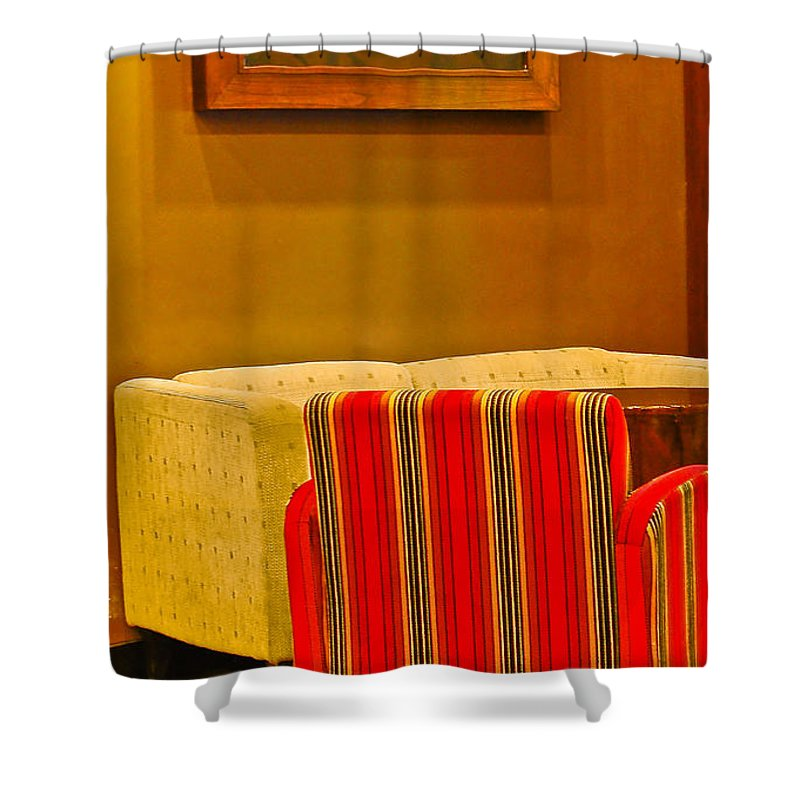 Shower Curtain featuring the photograph Lounge by Charuhas Images