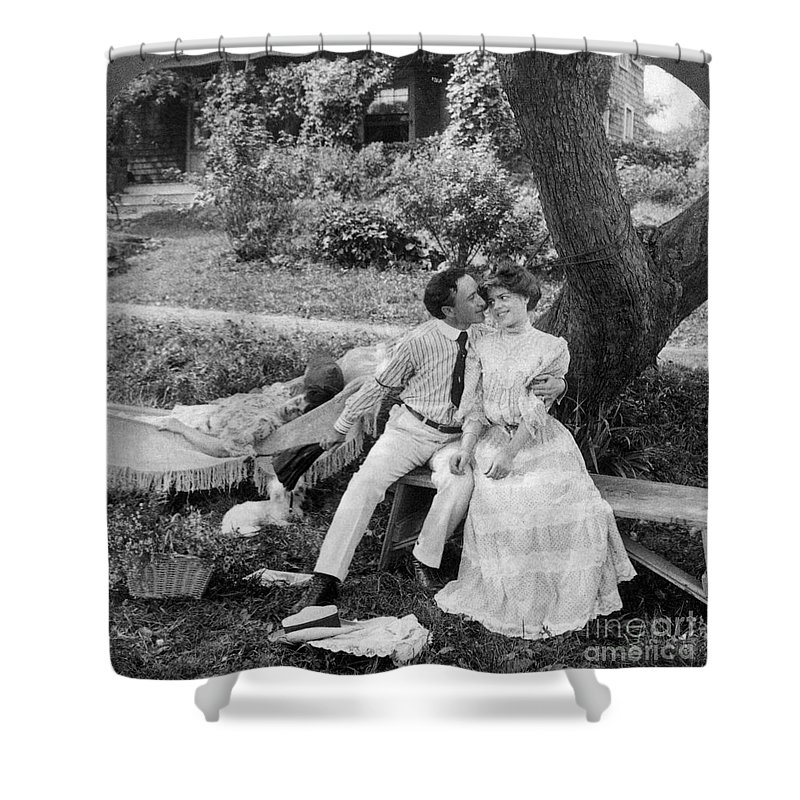 20th Century Shower Curtain featuring the photograph Love, 1906 by Granger