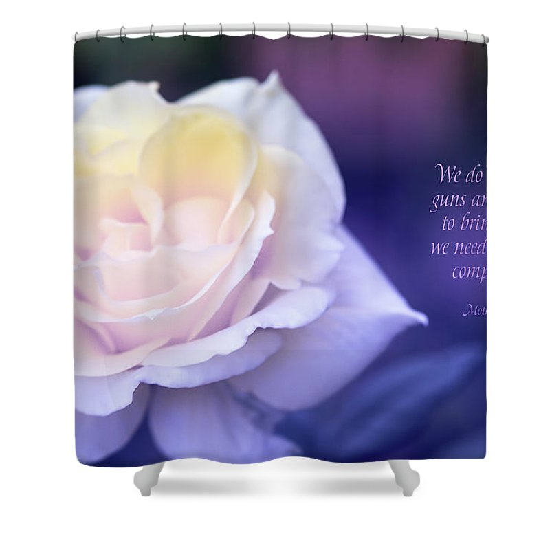 Rose Shower Curtain featuring the digital art Love And Compassion by Terry Davis