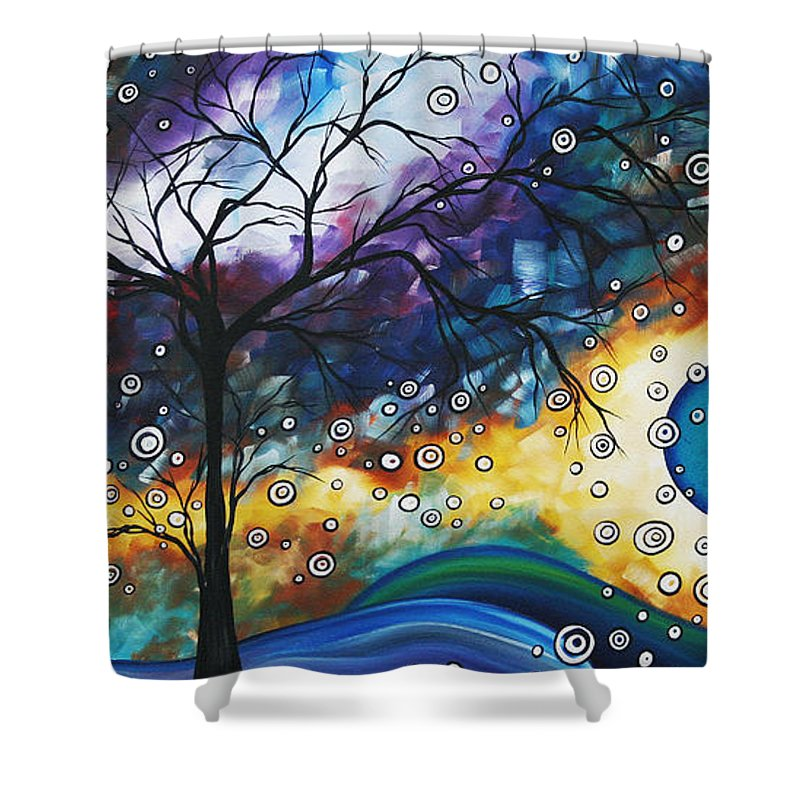 Wall Shower Curtain featuring the painting Love And Laughter By Madart by Megan Duncanson