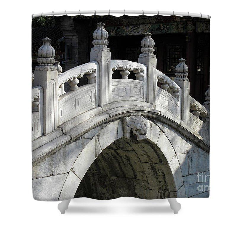 Horizontal Shower Curtain featuring the photograph Love Bridge by Stefania Levi