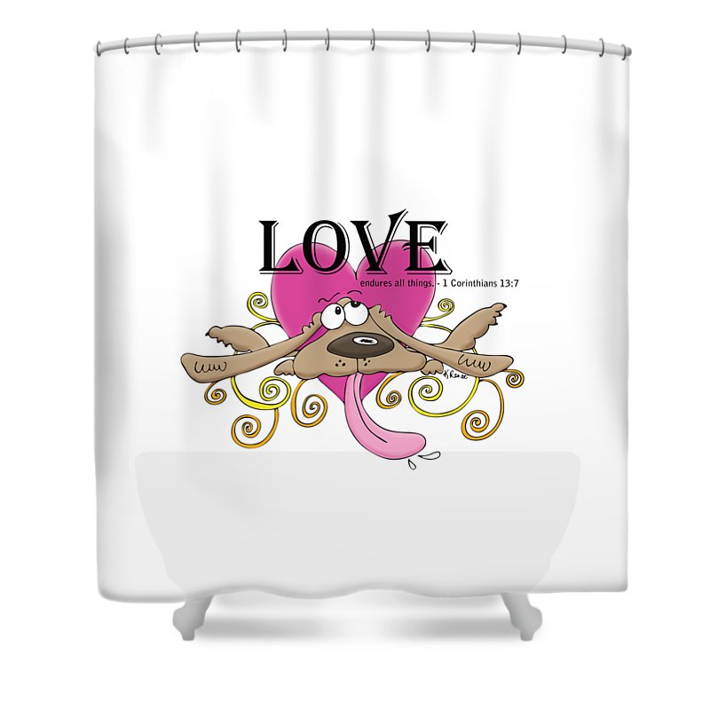 Love Shower Curtain featuring the digital art Love Endures by Kristin Renee