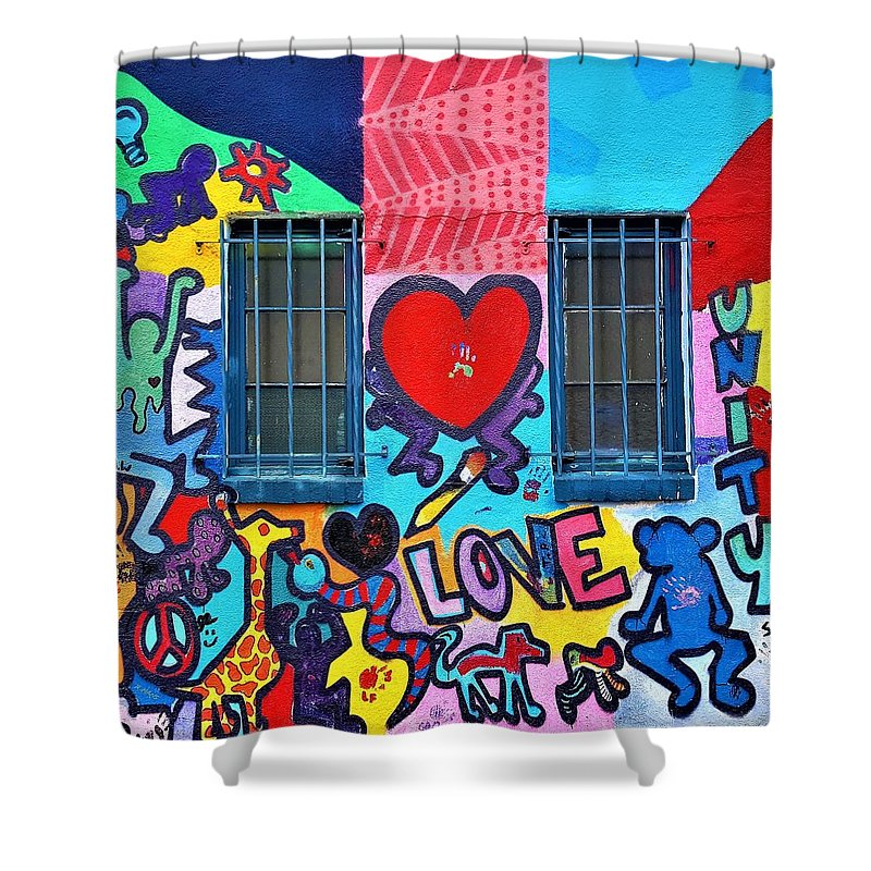 Murals Shower Curtain featuring the photograph Love Haring by Rob Hans