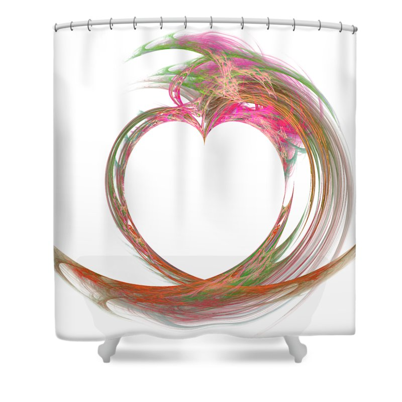 Love Shower Curtain featuring the digital art Love Is In The Air by Ilia
