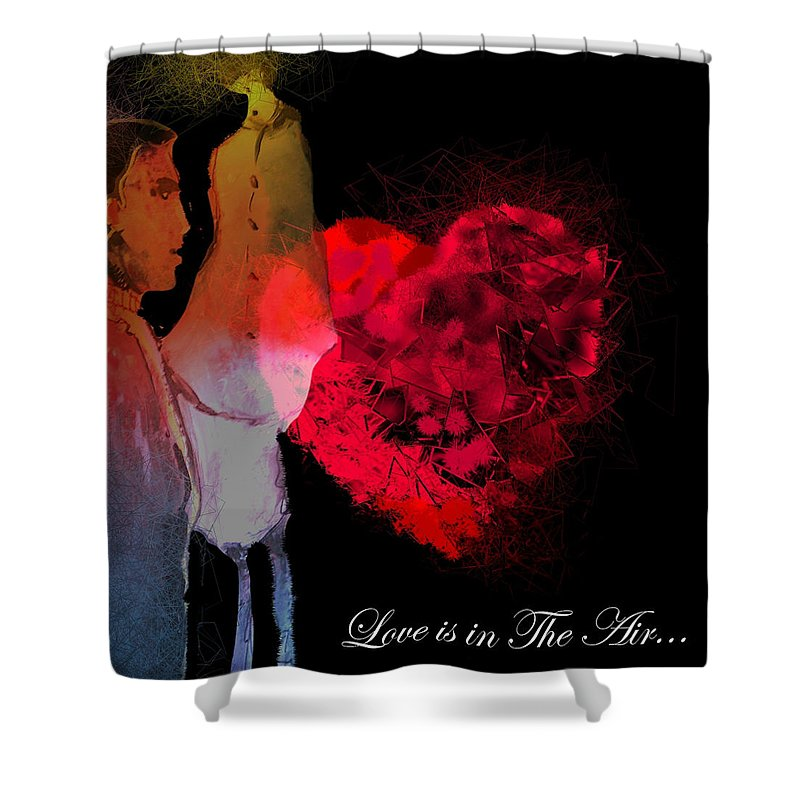 Love Shower Curtain featuring the painting Love Is In The Air by Miki De Goodaboom
