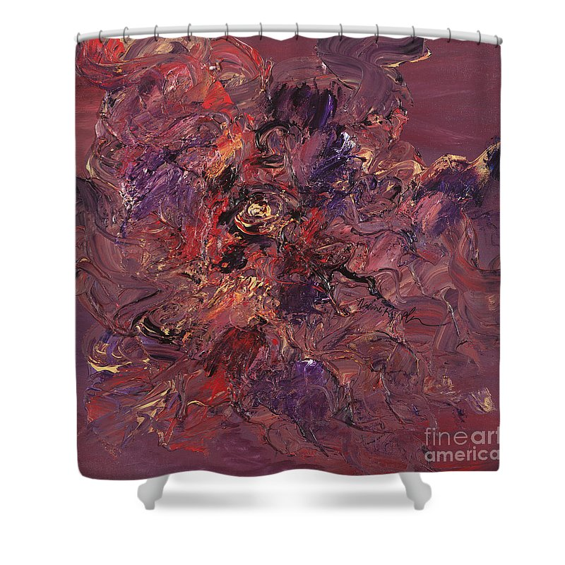 Love Shower Curtain featuring the painting Love by Nadine Rippelmeyer