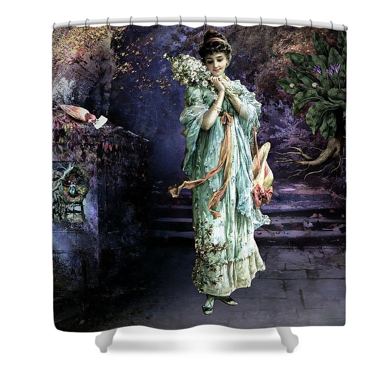 Women Shower Curtain featuring the painting Love Note by Laura Botsford