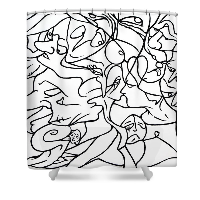 Love Shower Curtain featuring the painting Love Potion by Judy Henninger