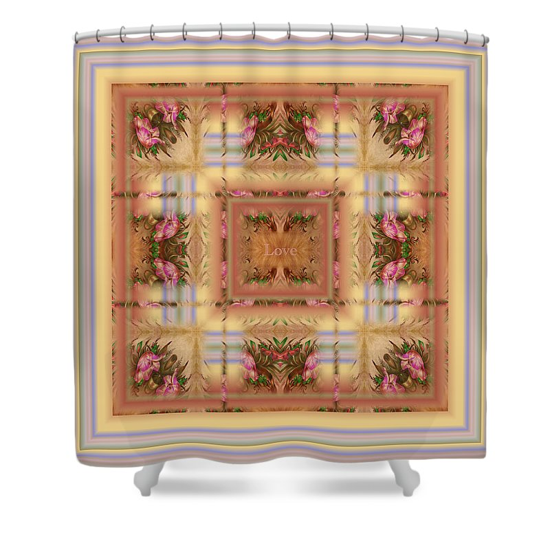 Love Shower Curtain featuring the digital art Love by RiaL Treasures