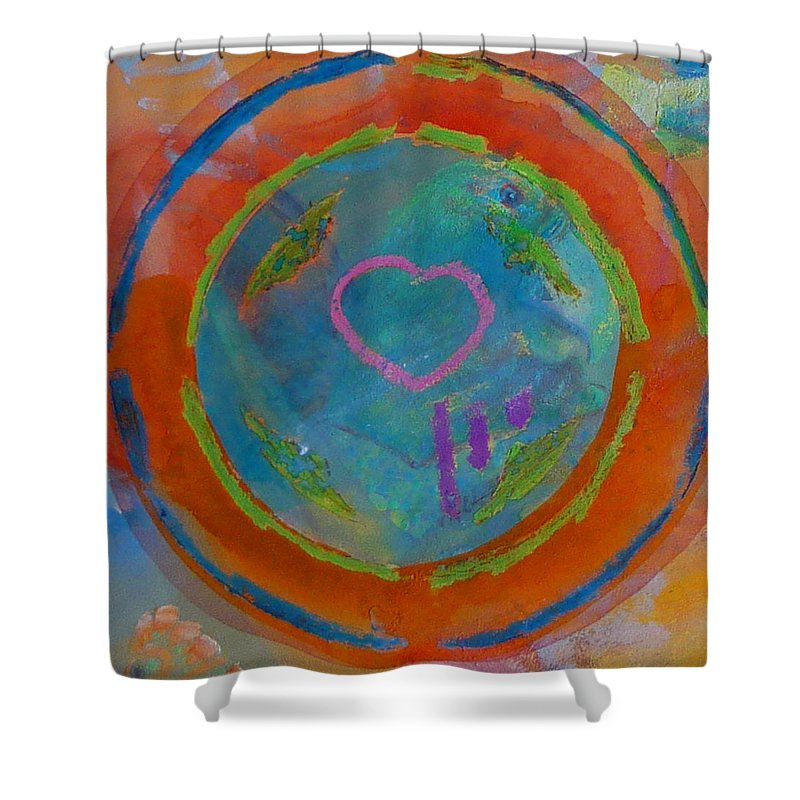 Logo Shower Curtain featuring the painting Love The Sea by Charles Stuart