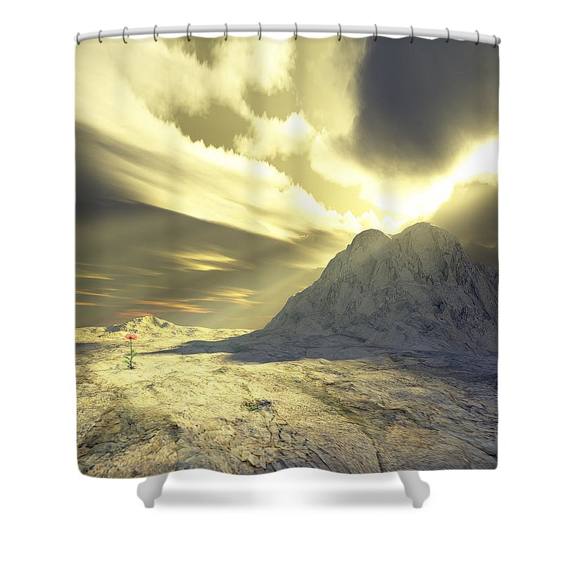 Loved Shower Curtain featuring the digital art Loved - Never Forgotten by Jennifer Kathleen Phillips