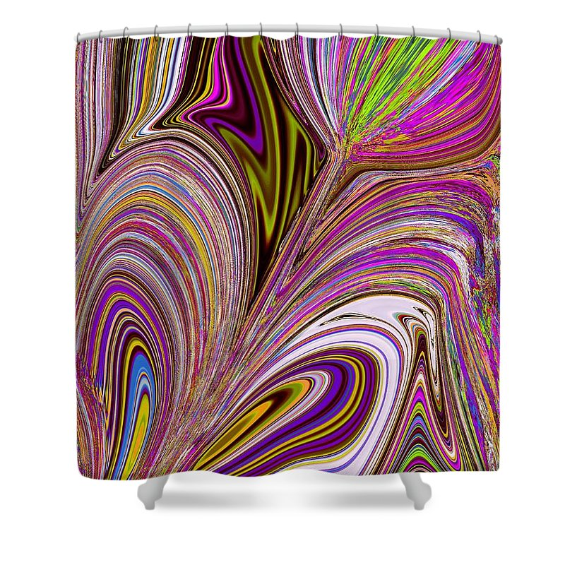 Lovely Shower Curtain featuring the digital art Lovely As Ever by Tim Allen