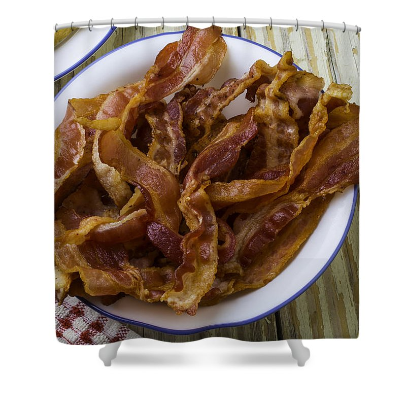 Lovely Shower Curtain featuring the photograph Lovely Bacon by Garry Gay