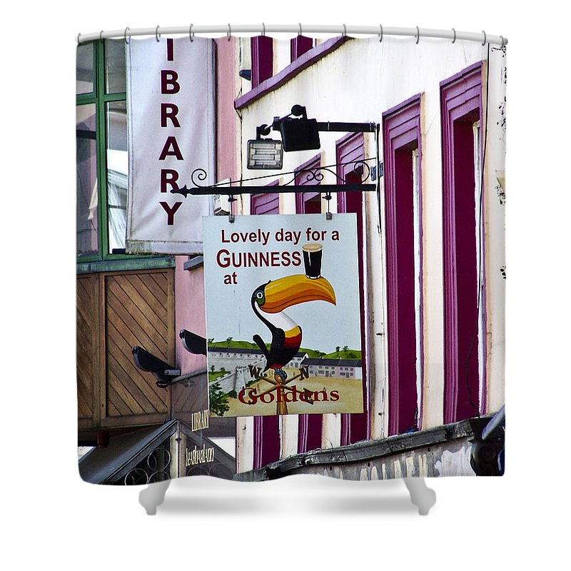 Irish Shower Curtain featuring the photograph Lovely Day For A Guinness Macroom Ireland by Teresa Mucha