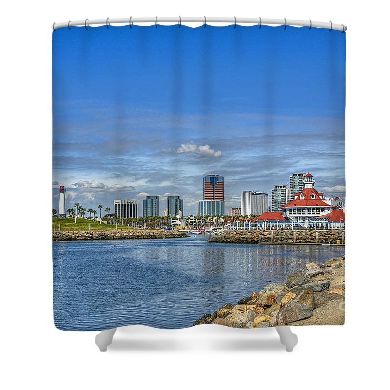 Long Beach Shower Curtain featuring the photograph Lovely Day Long Beach by David Zanzinger