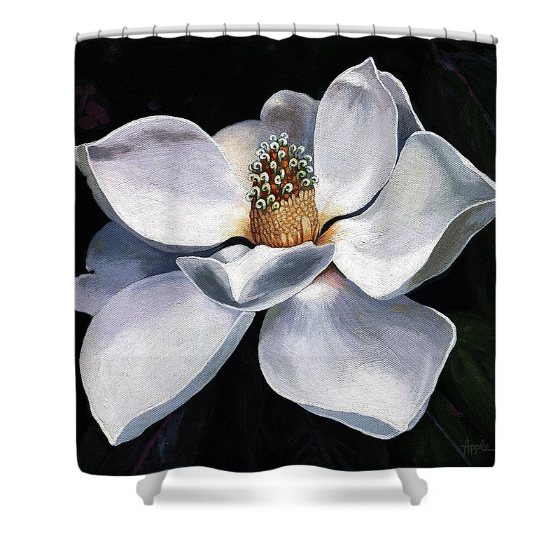 Lovely In White Painting Magnolia Flower Shower Curtain For Sale