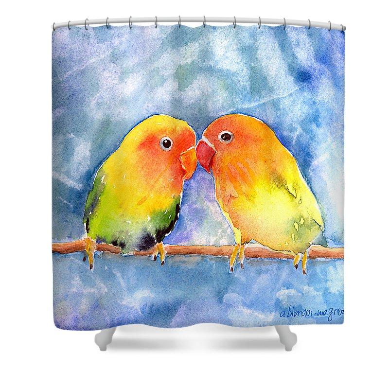 Lovebird Shower Curtains