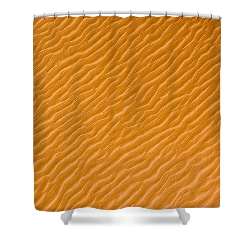 Landscape Shower Curtain featuring the photograph Low Rippling Dunes In The Northern by Michael Fay