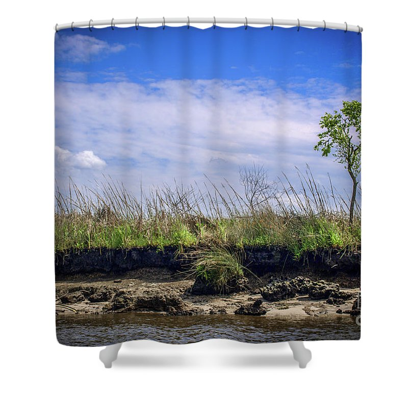 River Shower Curtain featuring the photograph Low Tide II by Yvette Wilson