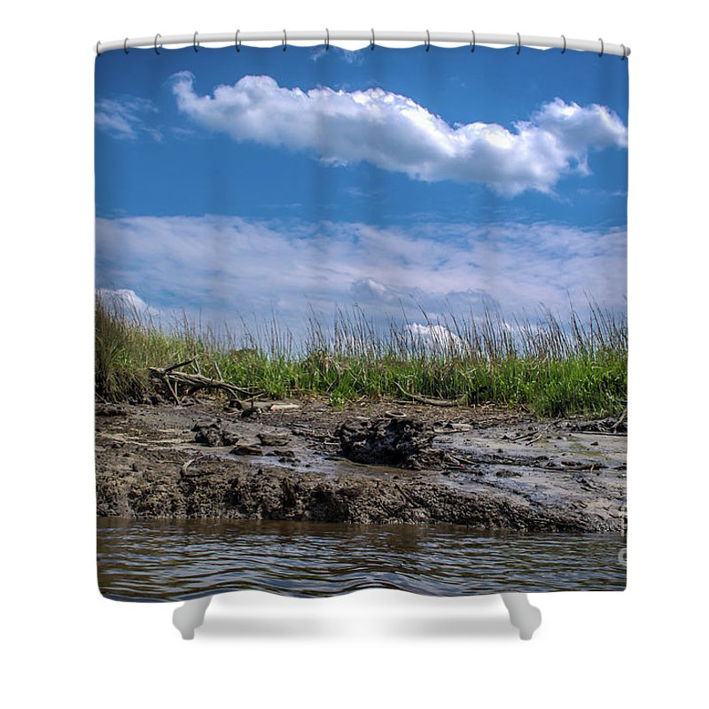 River Shower Curtain featuring the photograph Low Tide IIi by Yvette Wilson
