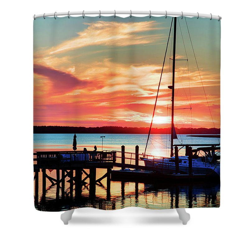 Boating Shower Curtain featuring the photograph Lowcountry Leisure by Phill Doherty