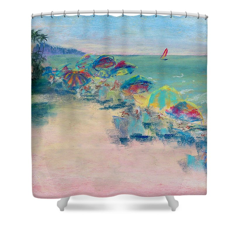 Lowdermilk Park Shower Curtain featuring the painting Lowdermilk Park by Laurie Paci