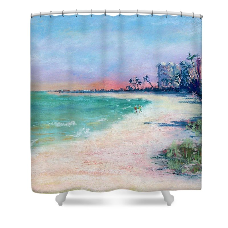 Lowdermilk Park Shower Curtain featuring the painting Lowdermilk Park North by Laurie Paci