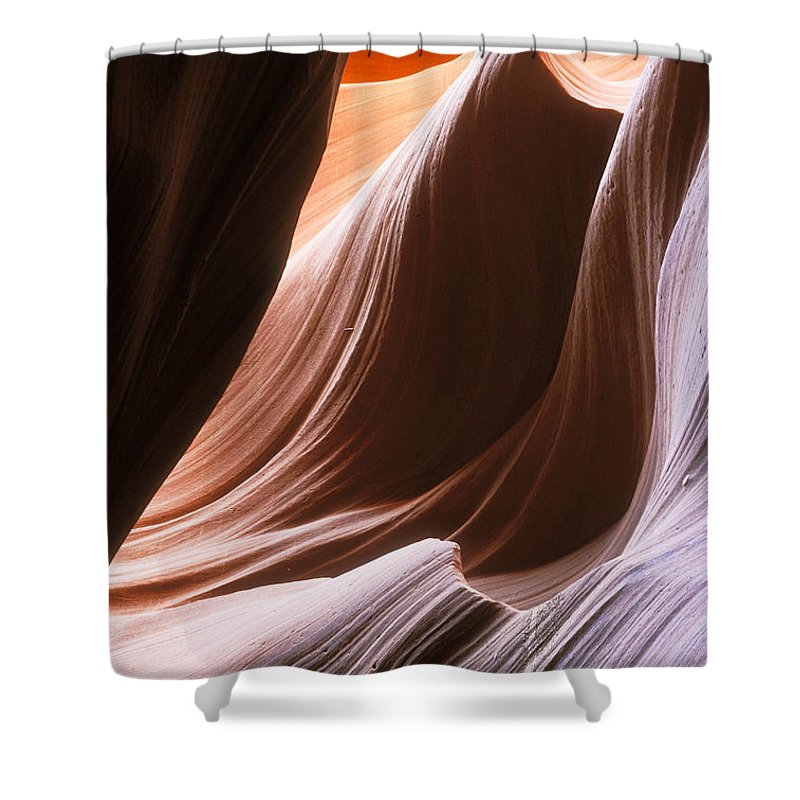 Slot Canyon Shower Curtain featuring the photograph Lower Antelope Slot Canyon by Sandra Bronstein
