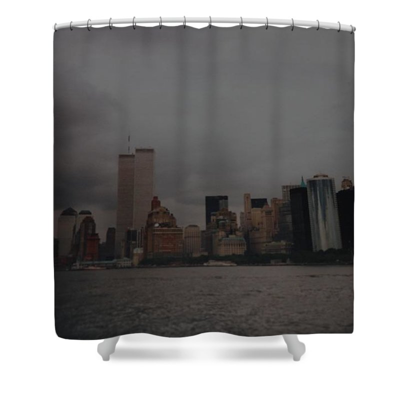 Wtc Shower Curtain featuring the photograph Lower Manhattan by Rob Hans