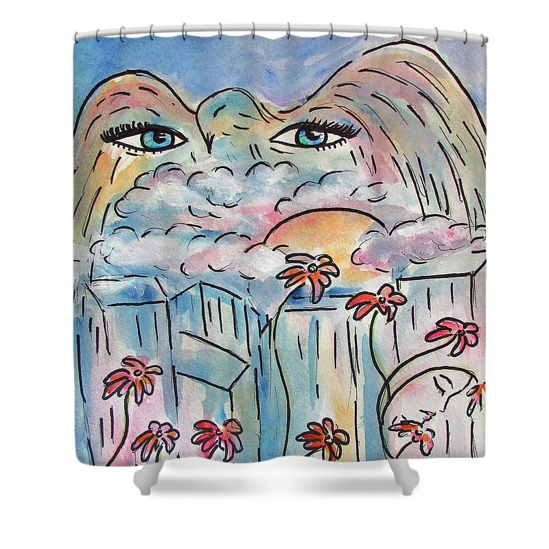Lucid Dream Shower Curtain featuring the painting Lucid Dream by Robin Monroe