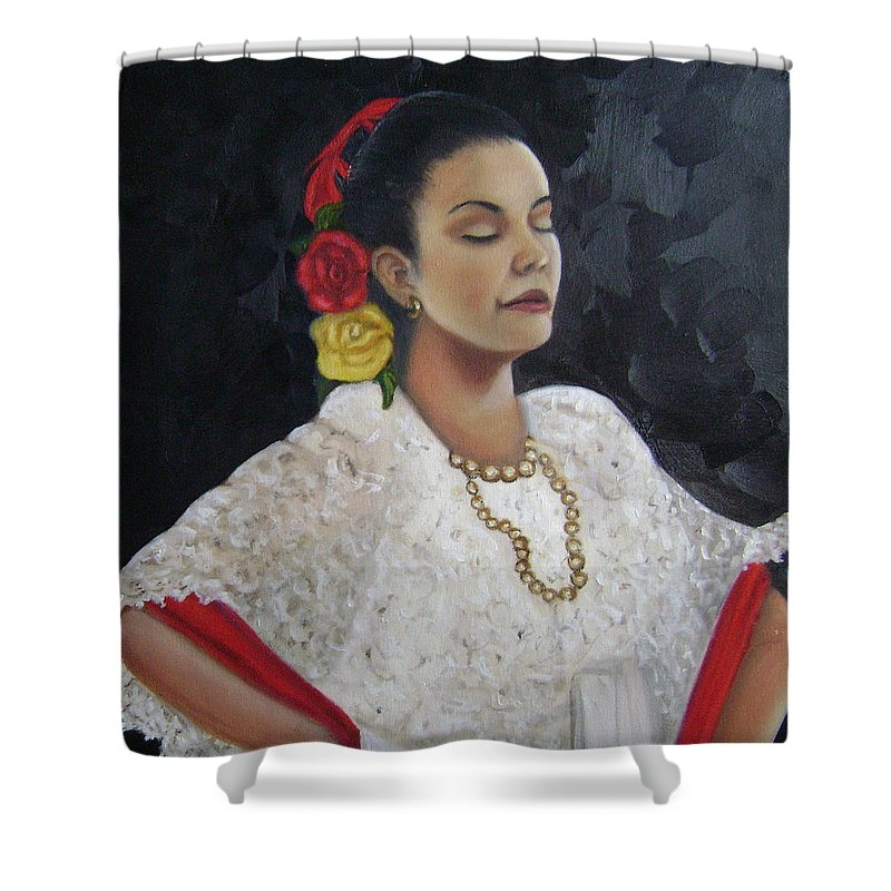 Shower Curtain featuring the painting Lucinda by Toni Berry