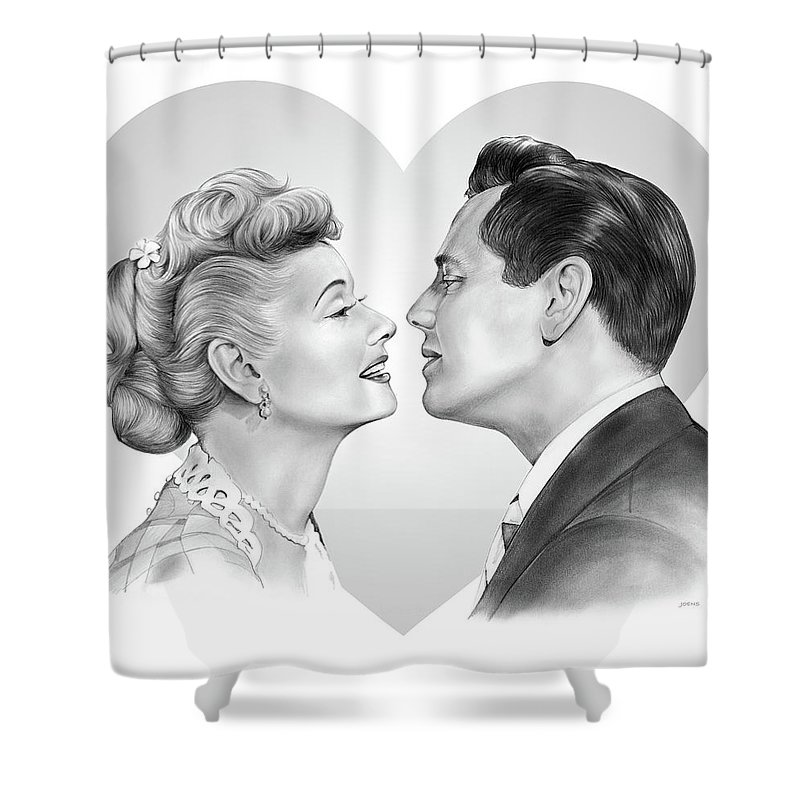 I Love Lucy Shower Curtains